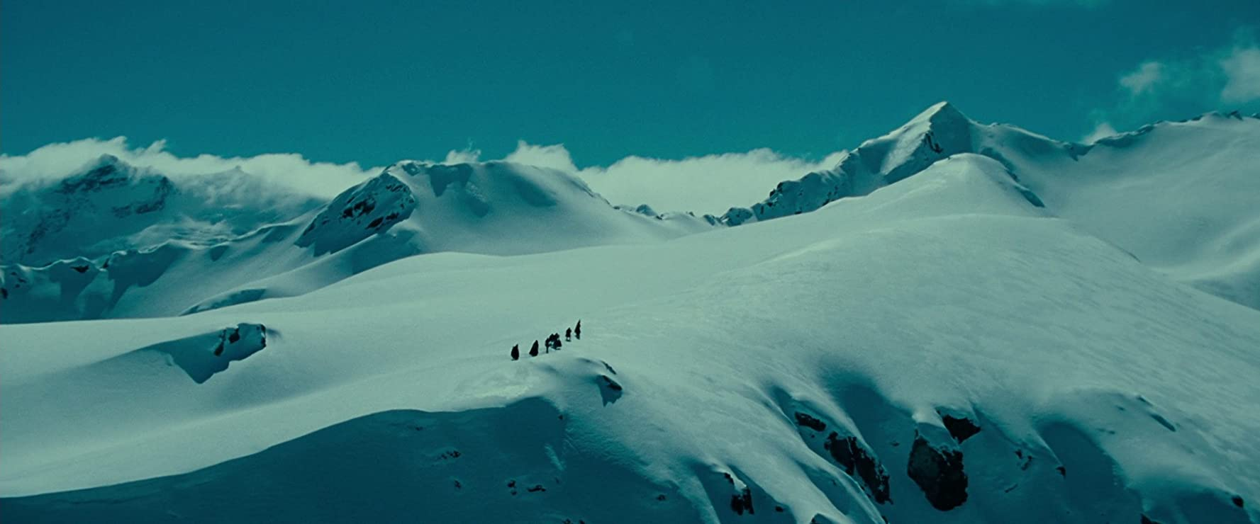 The snow-capped peaks in The Lord of the Rings are a delight to watch.