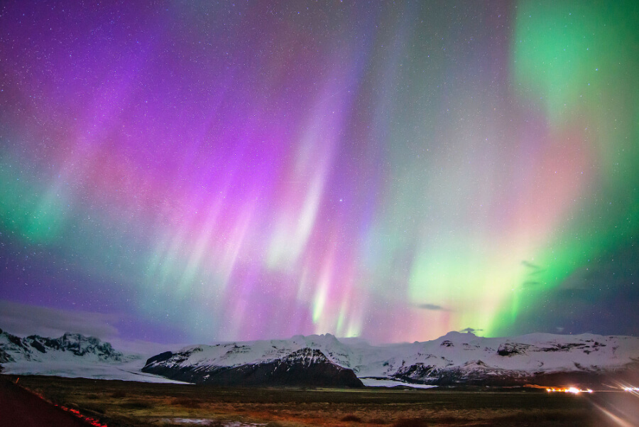 Northern Lights Skaftafell Iceland