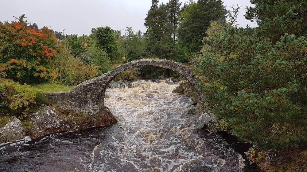 The Old Pack Horse Bridge, Carrbridge, Scotland