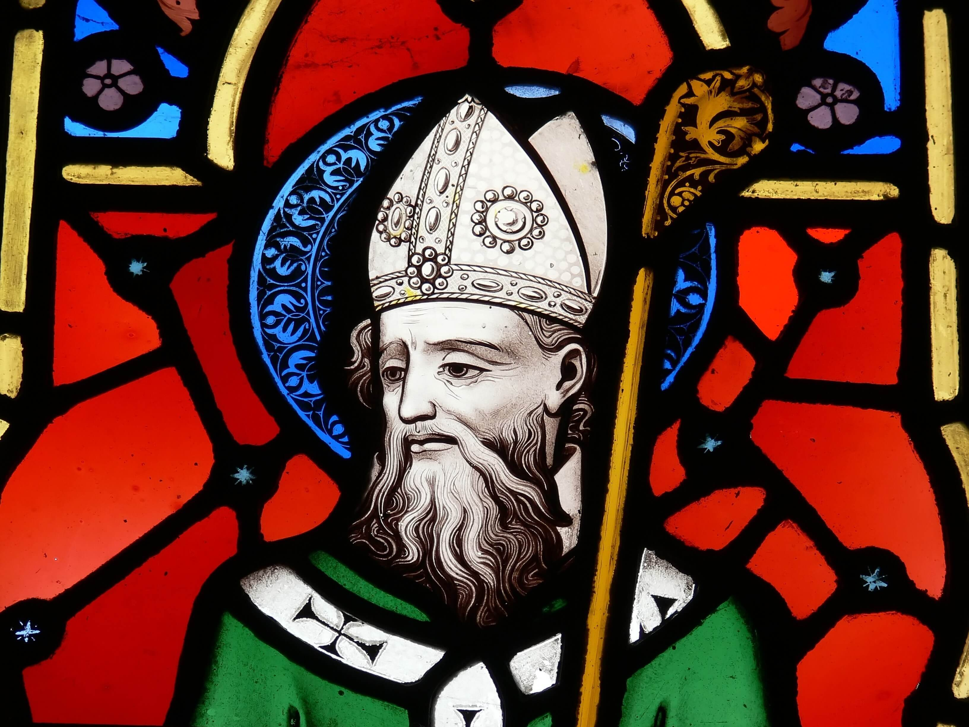 St. Patrick stained-glass window