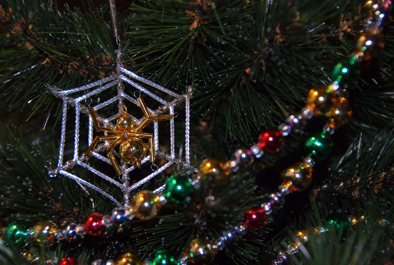 Cobweb and spider Christmas decoration
