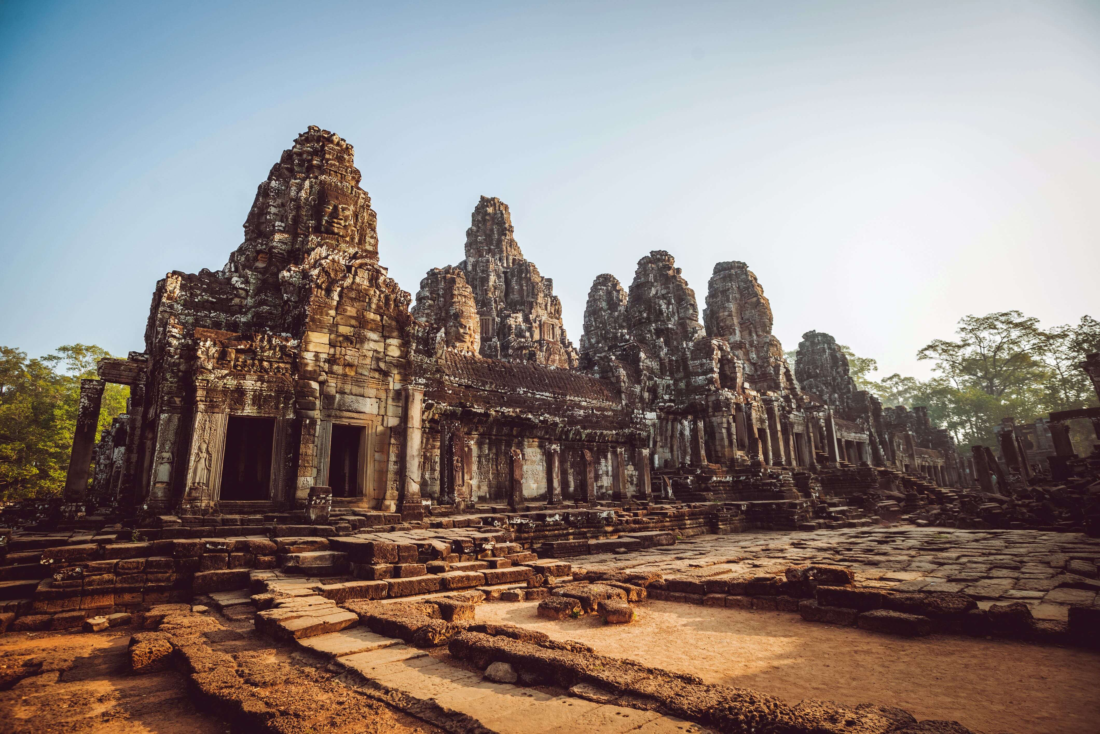 Bayon is an ornately decorated 12th century Khmer temple in Angkor, Cambodia.