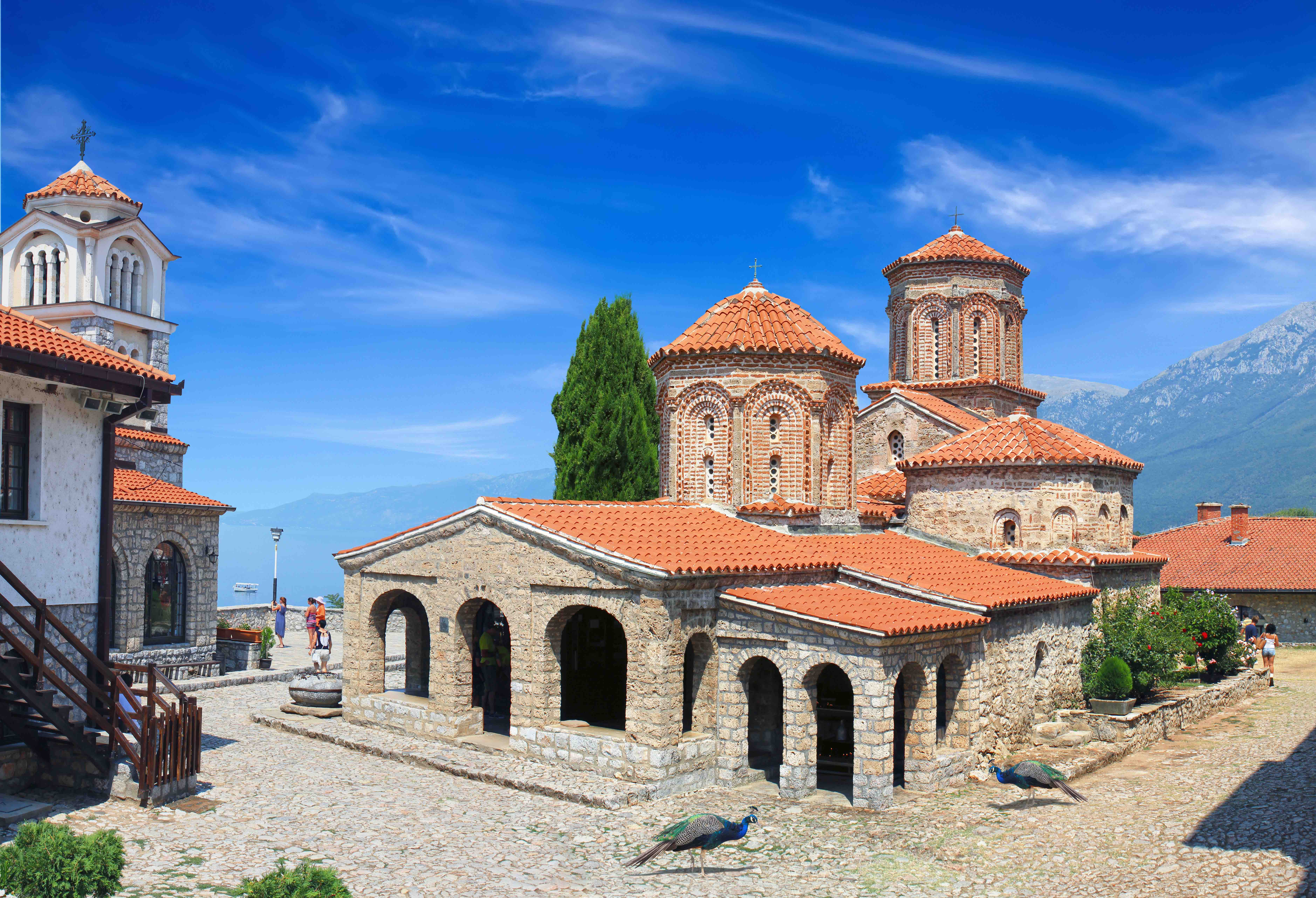 10th-century St. Naum monastery is one of Macedonia's most unique religious structures.