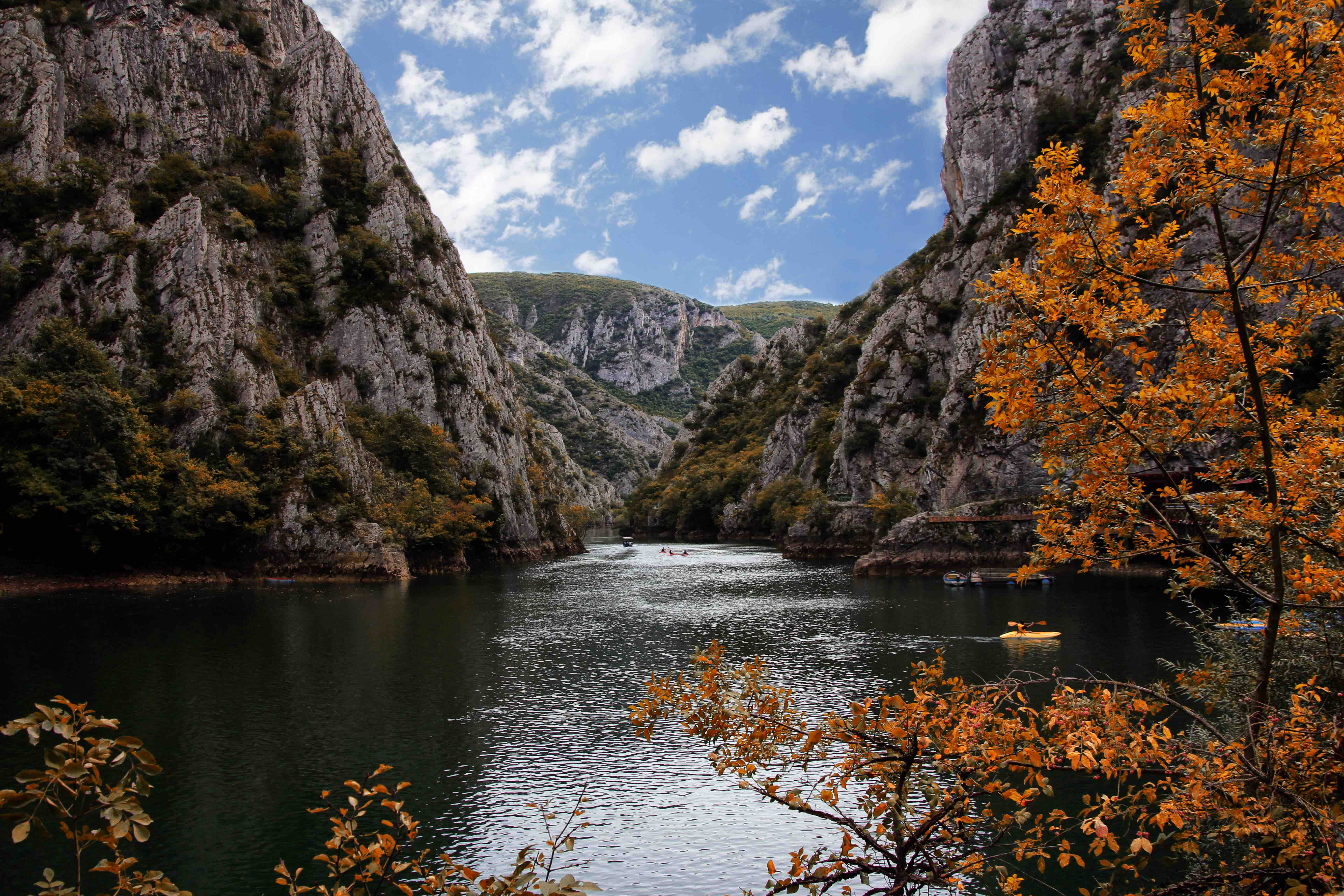 Near the capital city of Skopje is the canyon Matka, which spans 5,000 hectares of land.