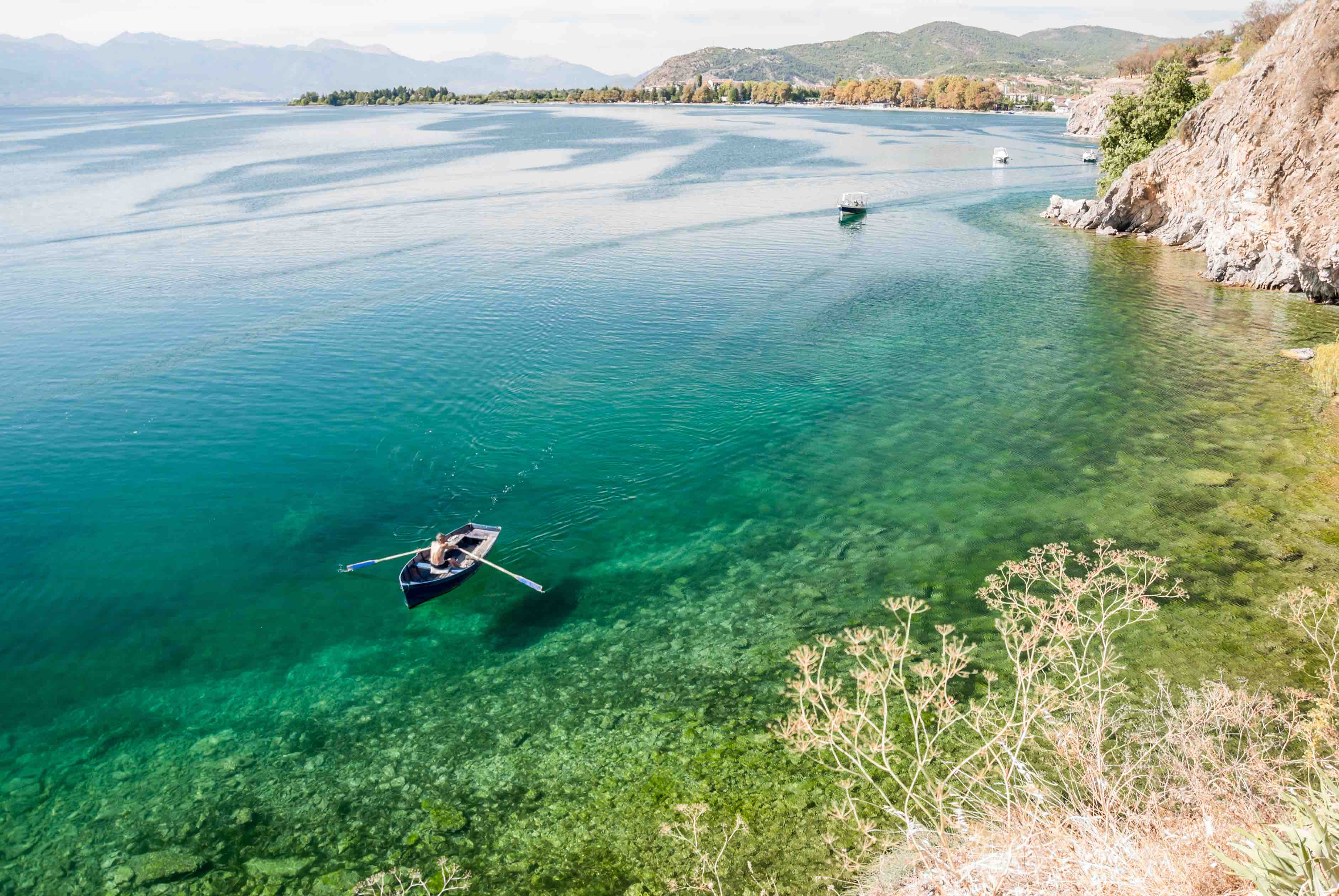 Paddle through the tranquil Lake Ohrid in North Macedonia.