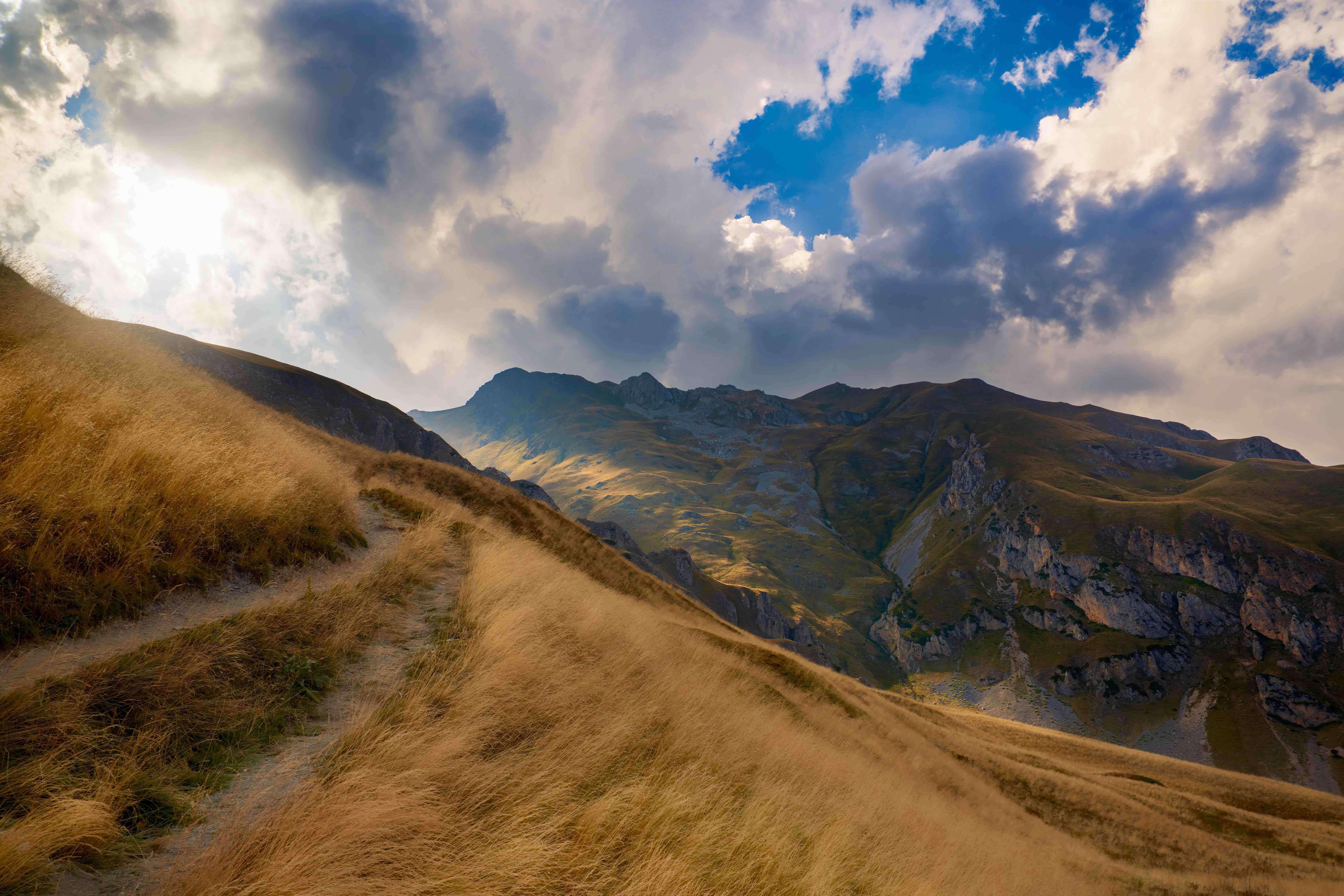 The jagged peaks and winding hiking paths of Mavrovo, Macedonia.