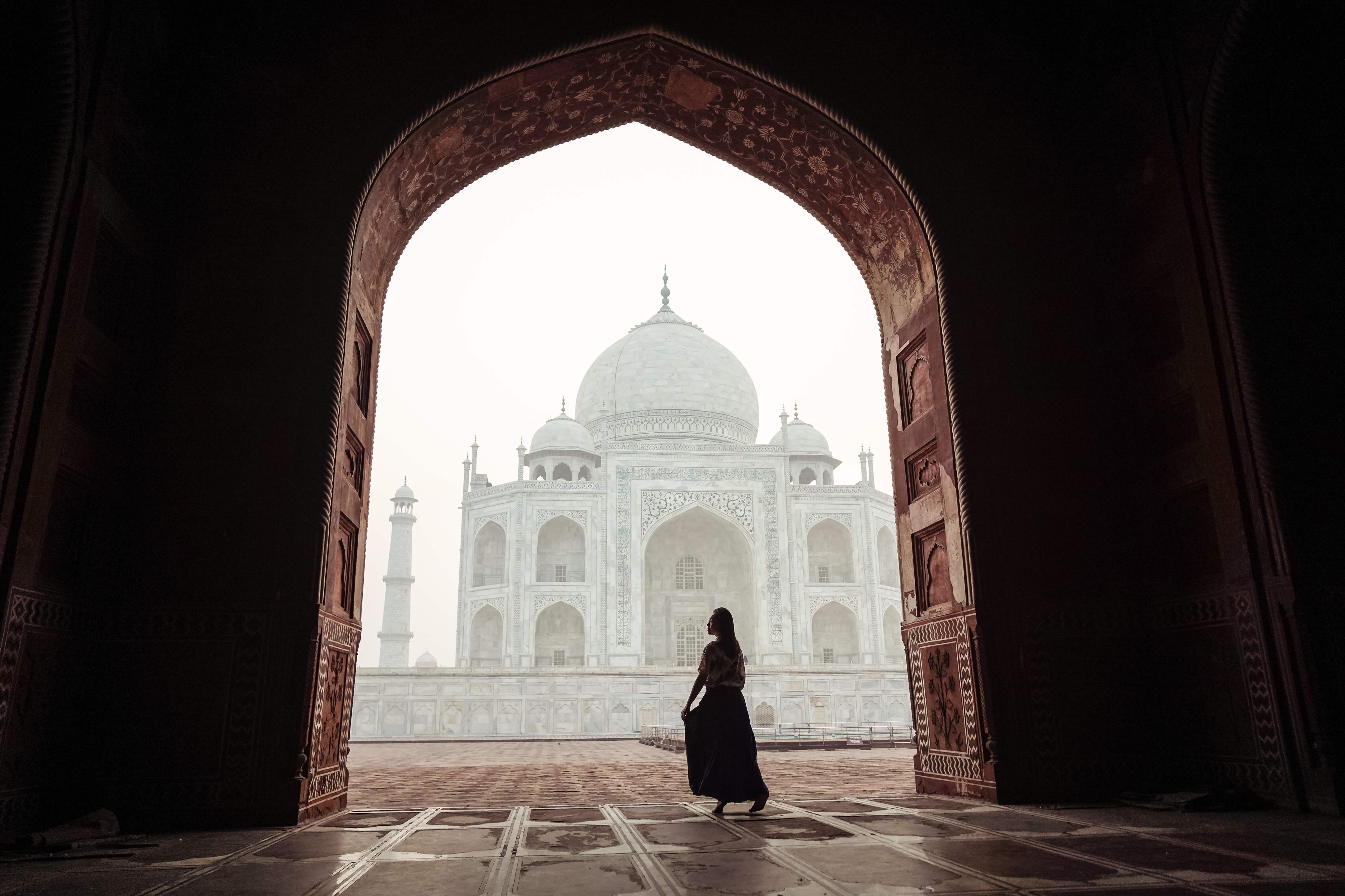 Beat the dawn at the Taj Mahal.