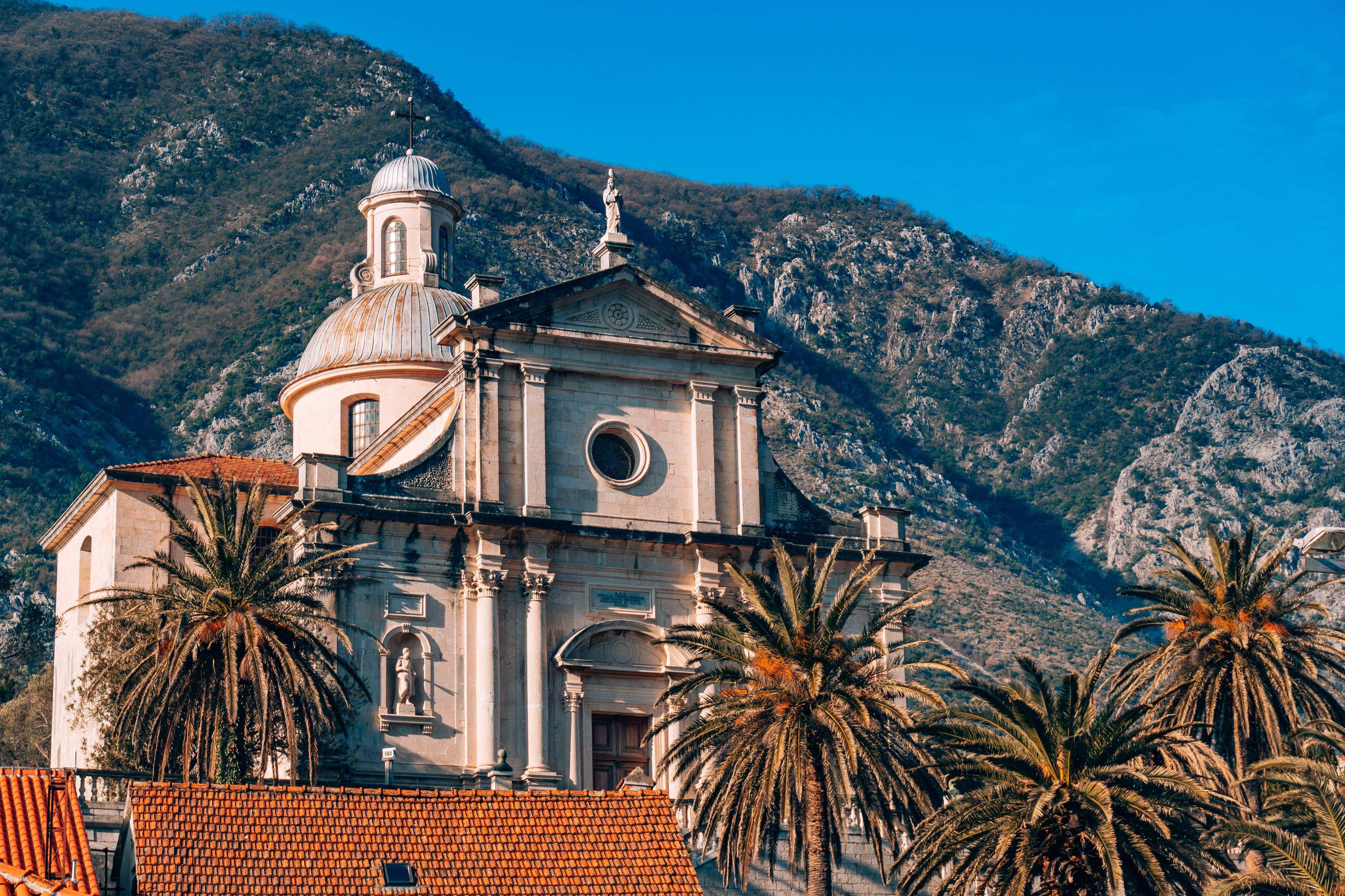 Church of the Nativity of the Virgin at the luminous Bay of Kotor.