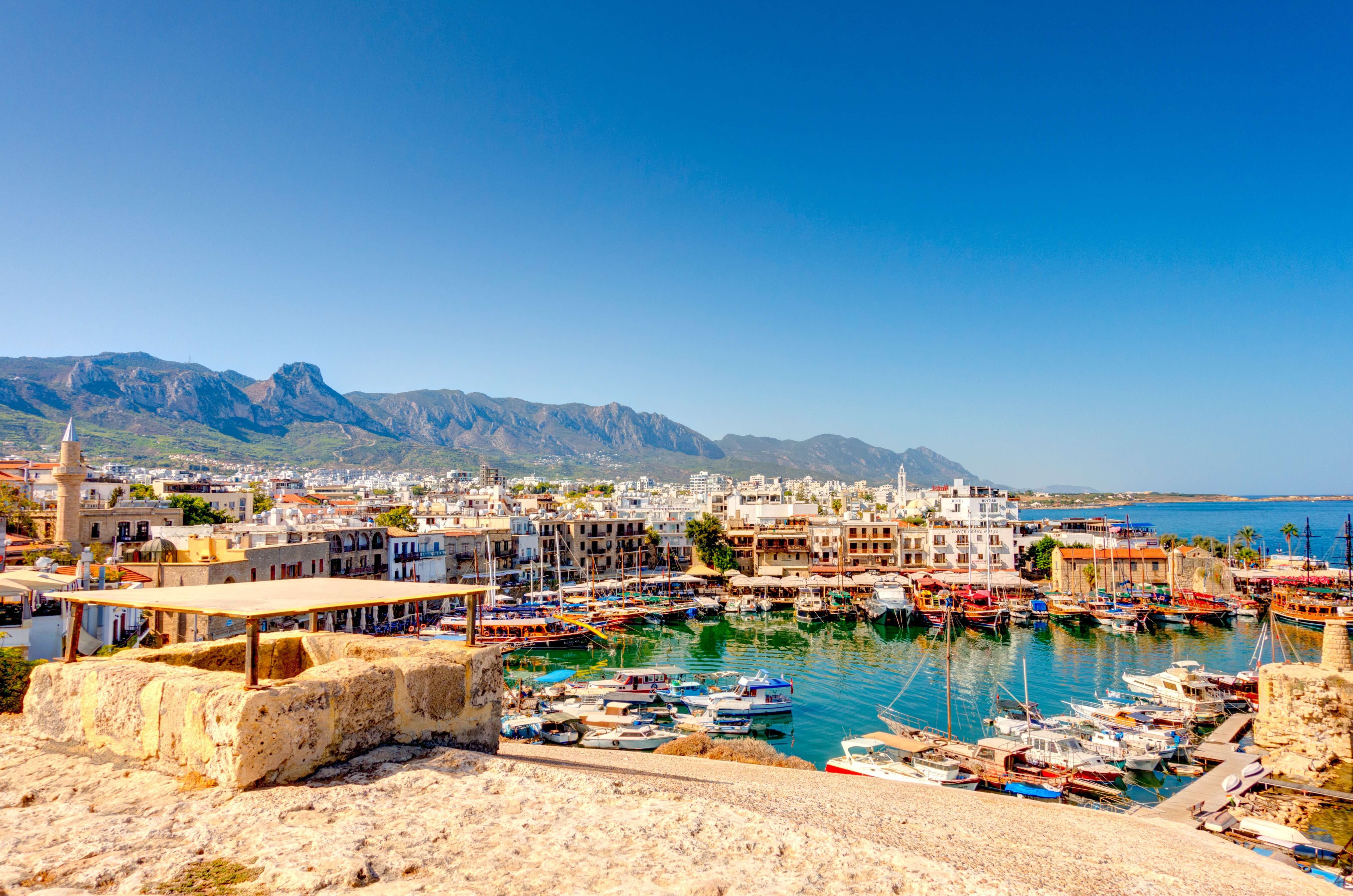 Kyrenia's old harbour on a gorgeous summer day.