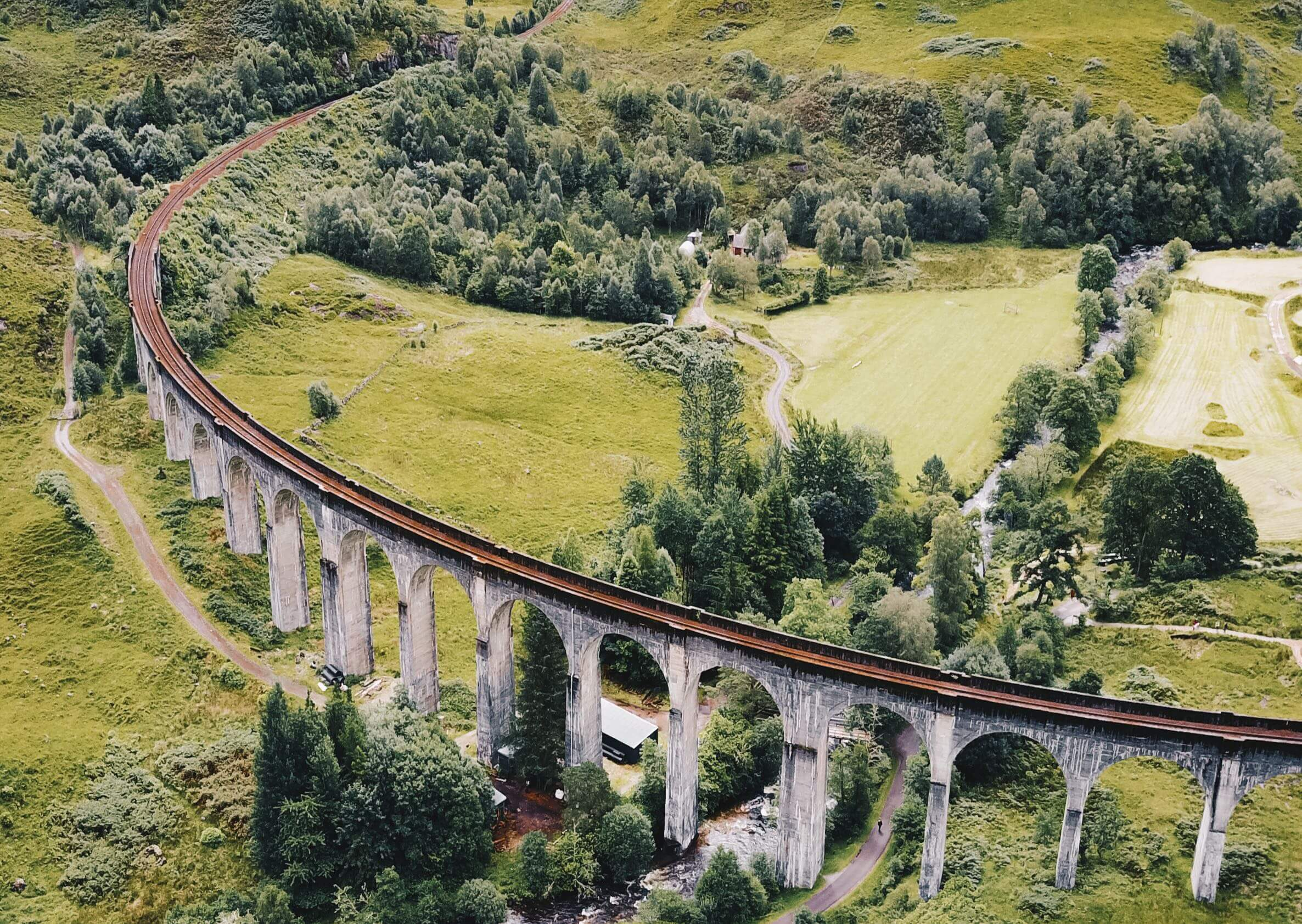 Take a memorable journey over Glenfinnan Viaduct in Scotland.