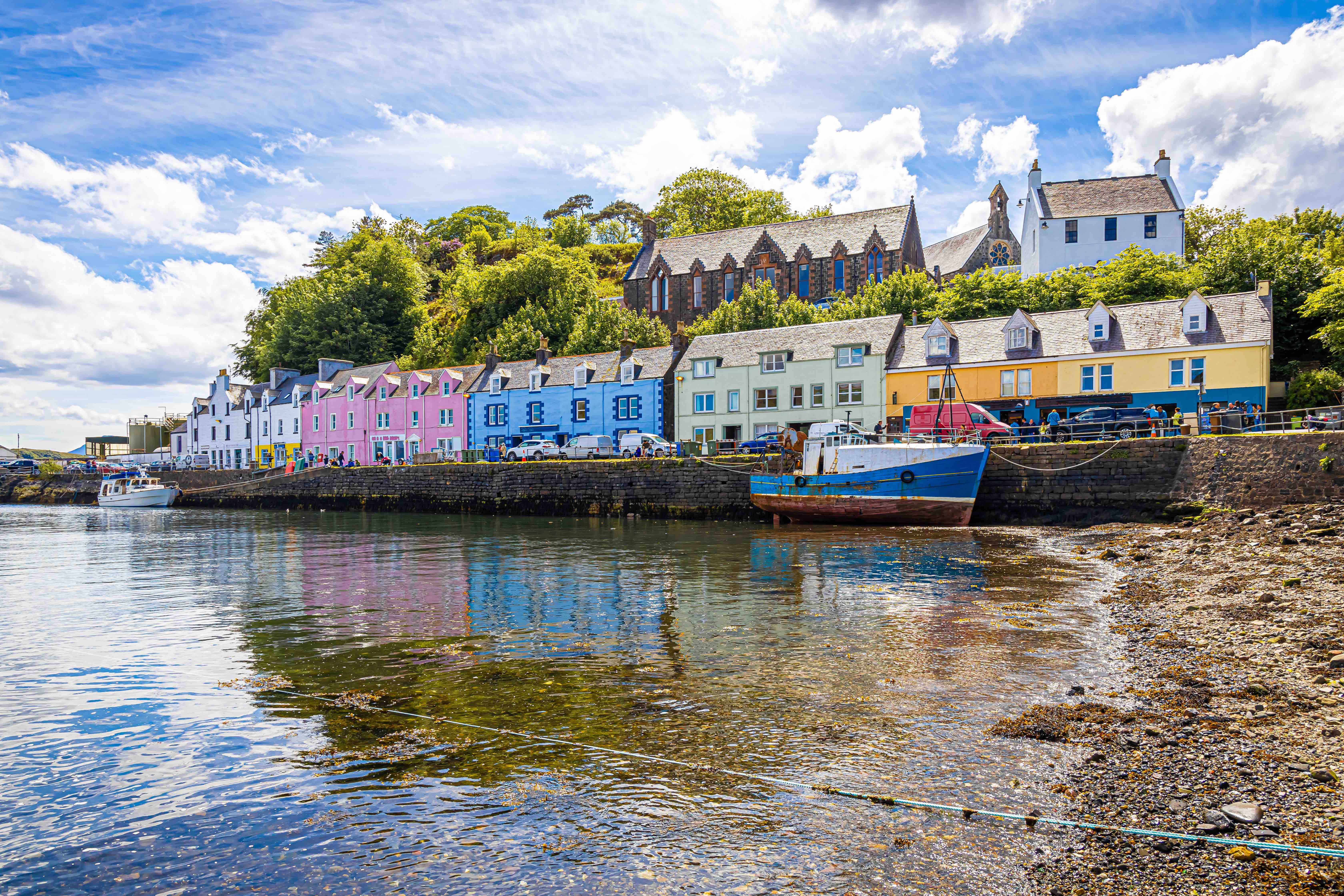 The village of Portree on the Isle of Skye.
