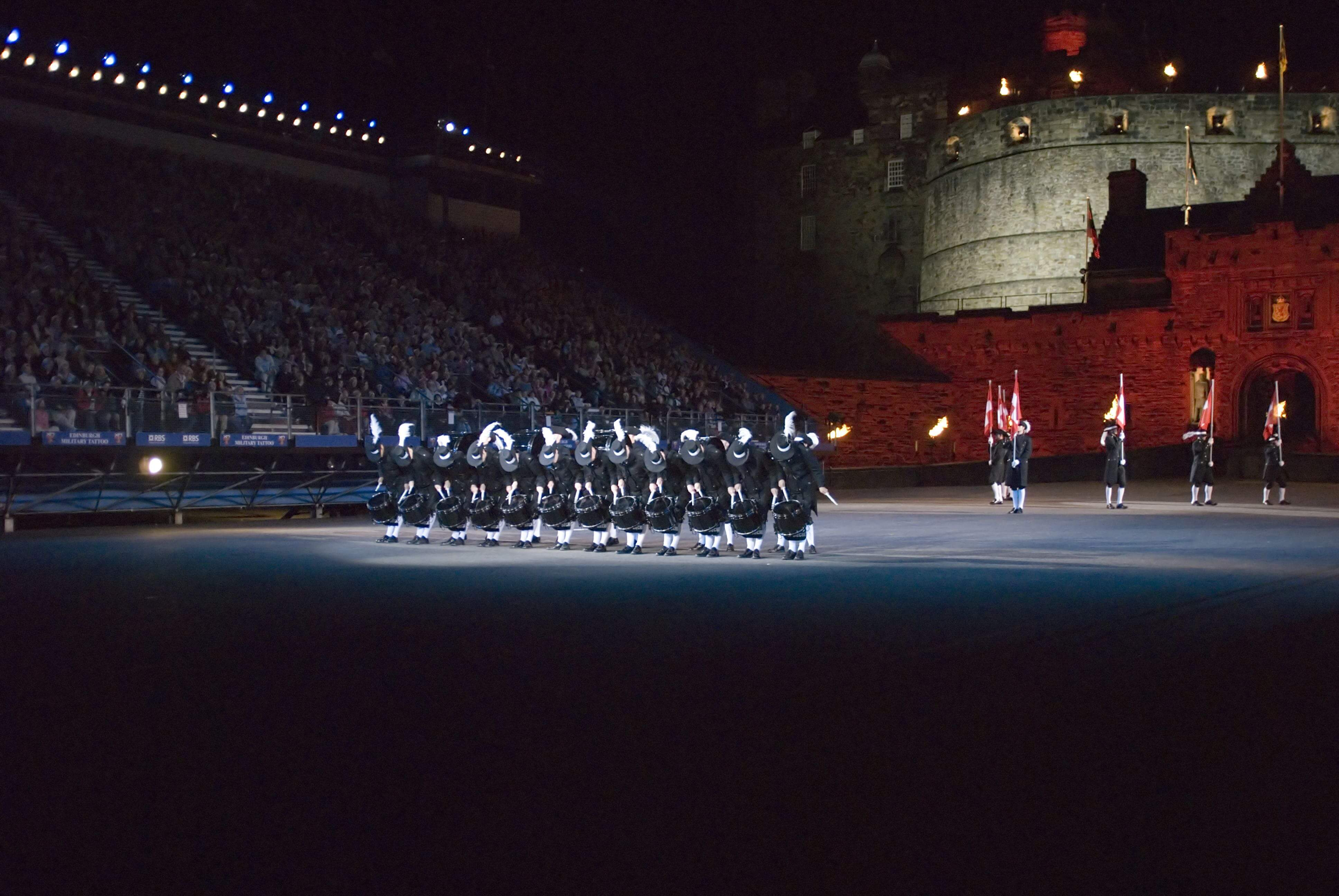 The Top Secret Drum Corps of Switzerland at Edinburgh Military Tattoo.