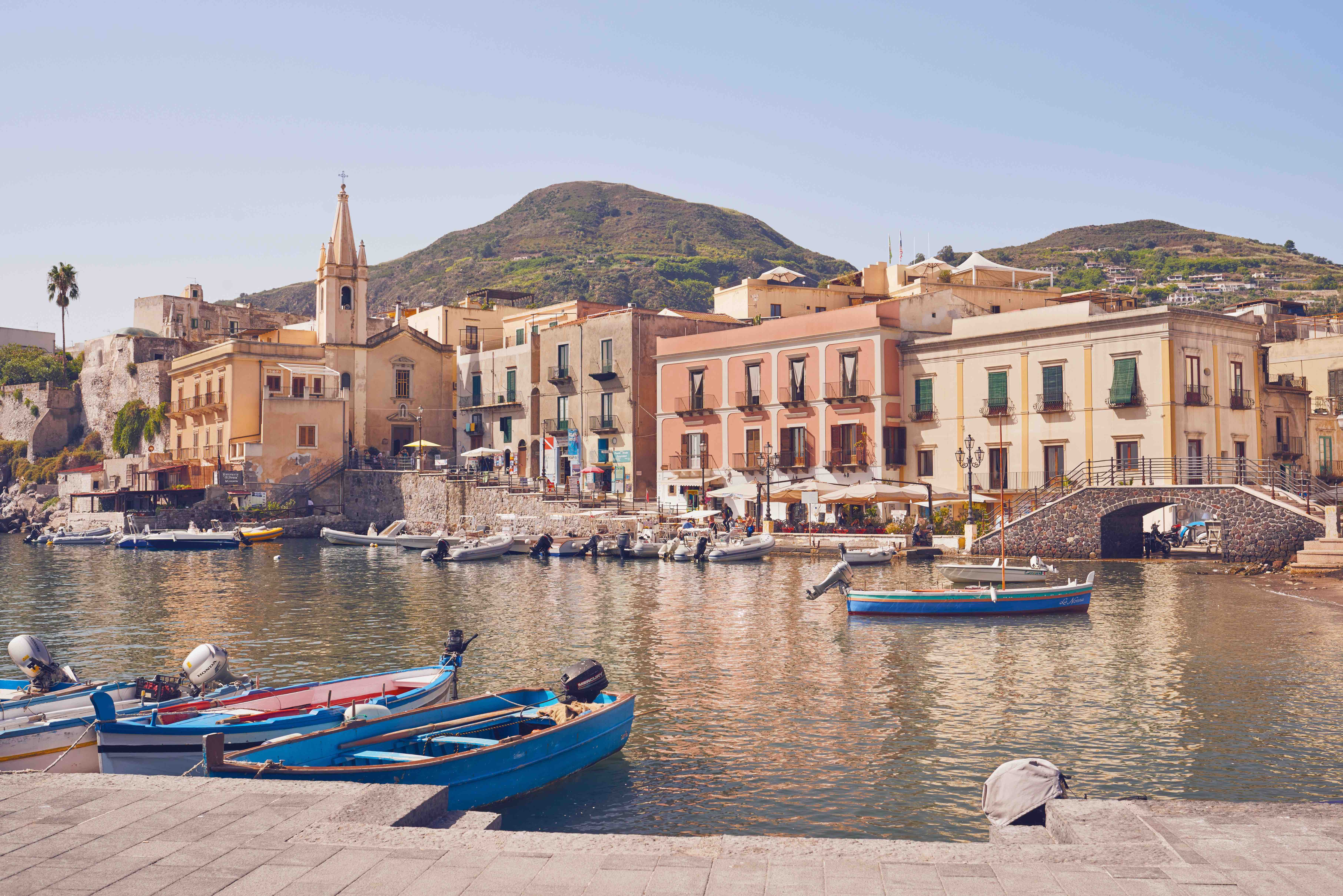 The iconic harbour of Lipari, one of the most underrated Aeolian Islands.