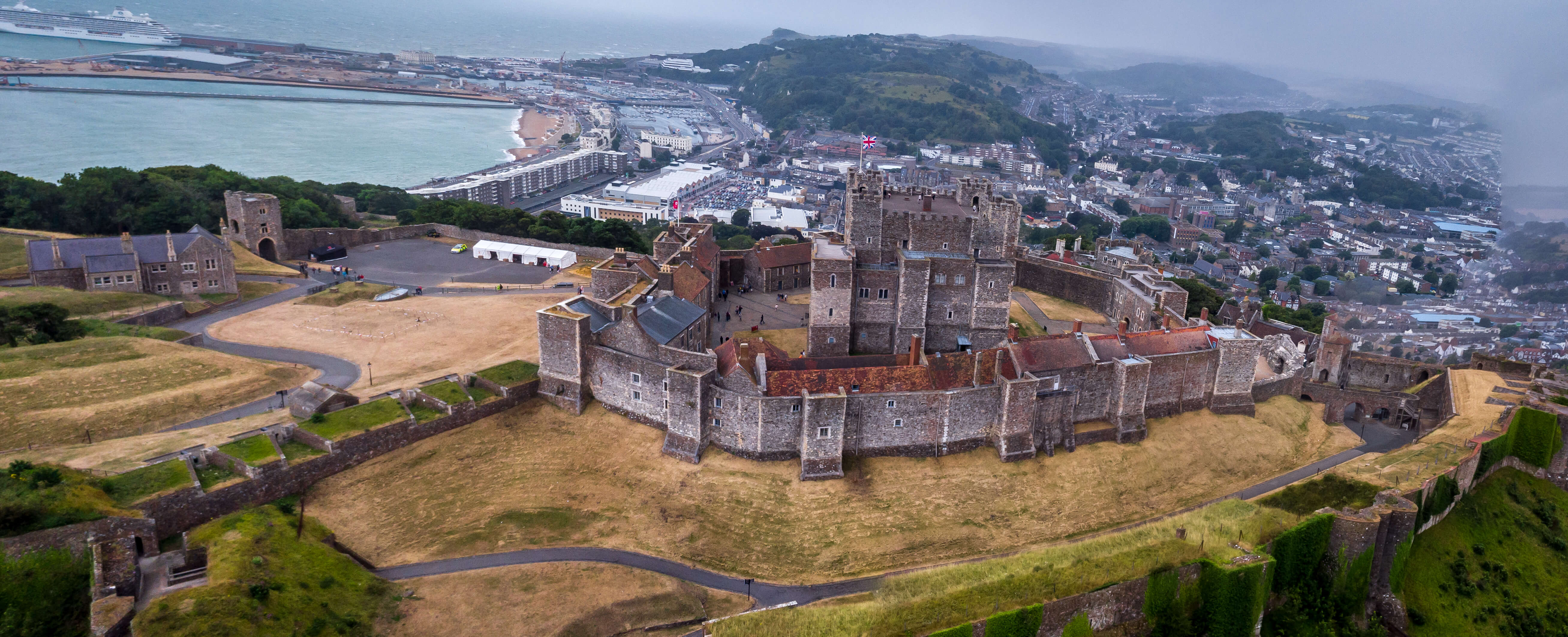 Dover Castle is one of the UK's most striking fortresses.