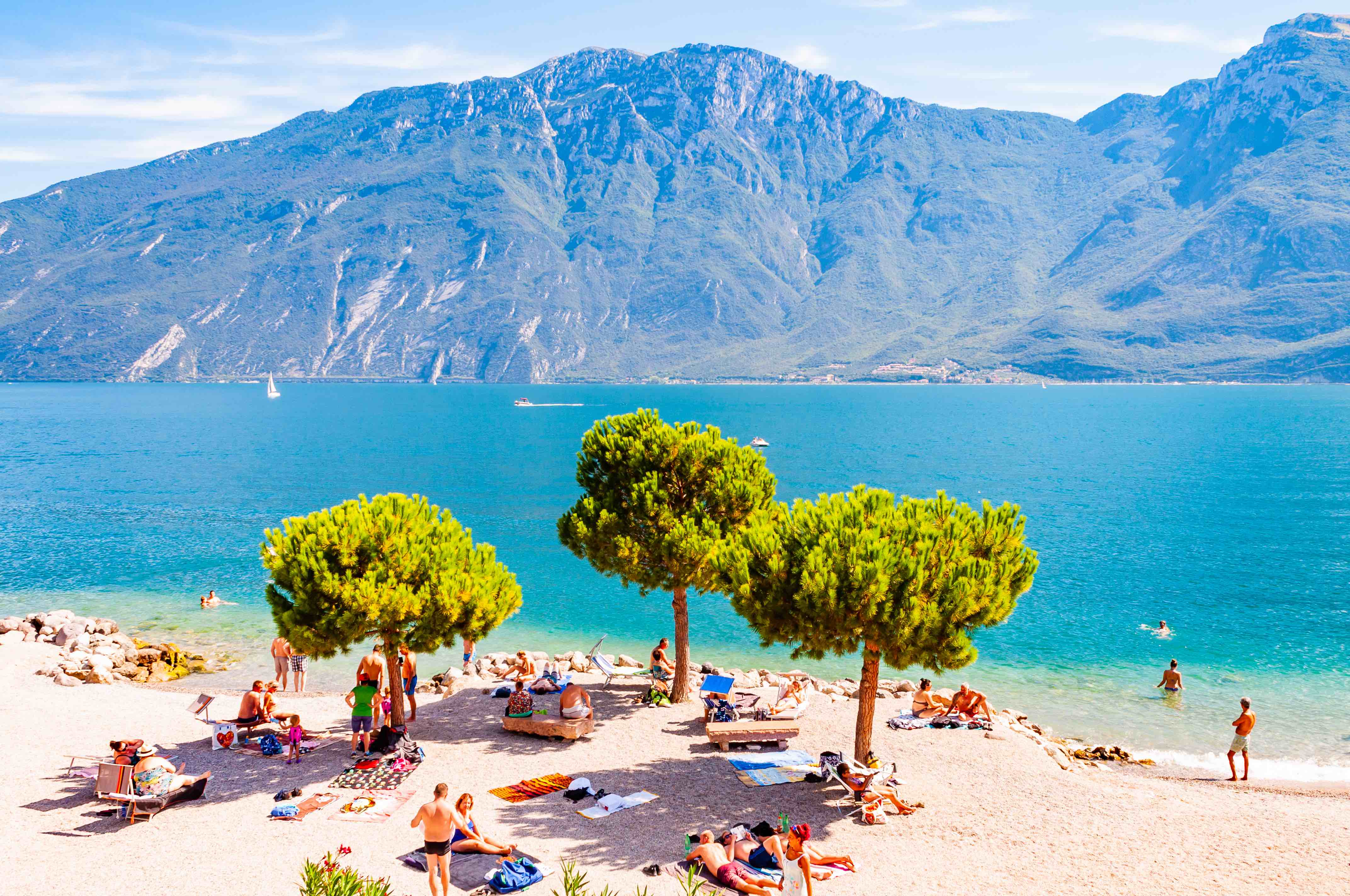 The sapphire shores of Italy's Lake Garda during the height of summer - will you end up here?