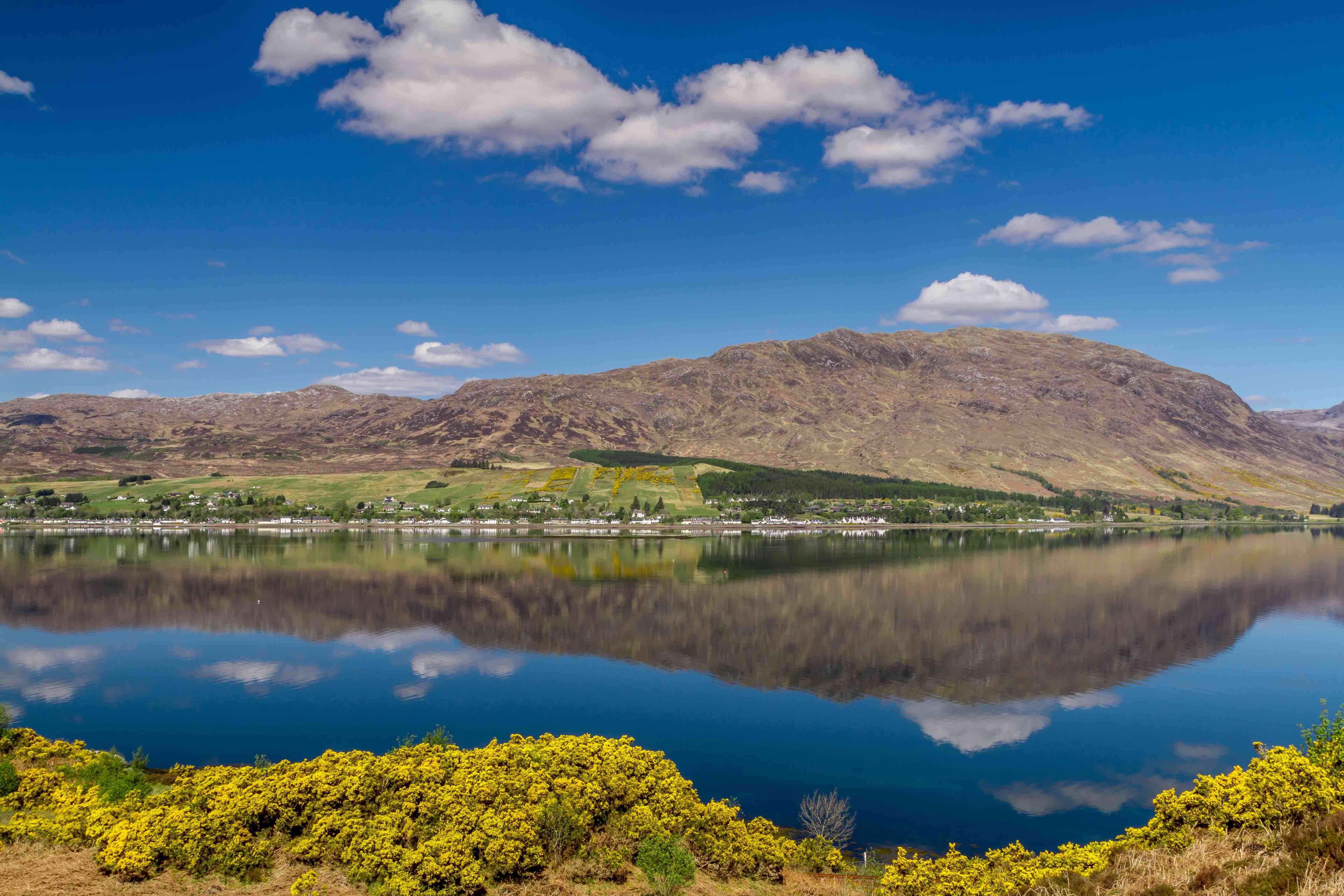 The stunning shoreline of Scotland's Loch Carron.