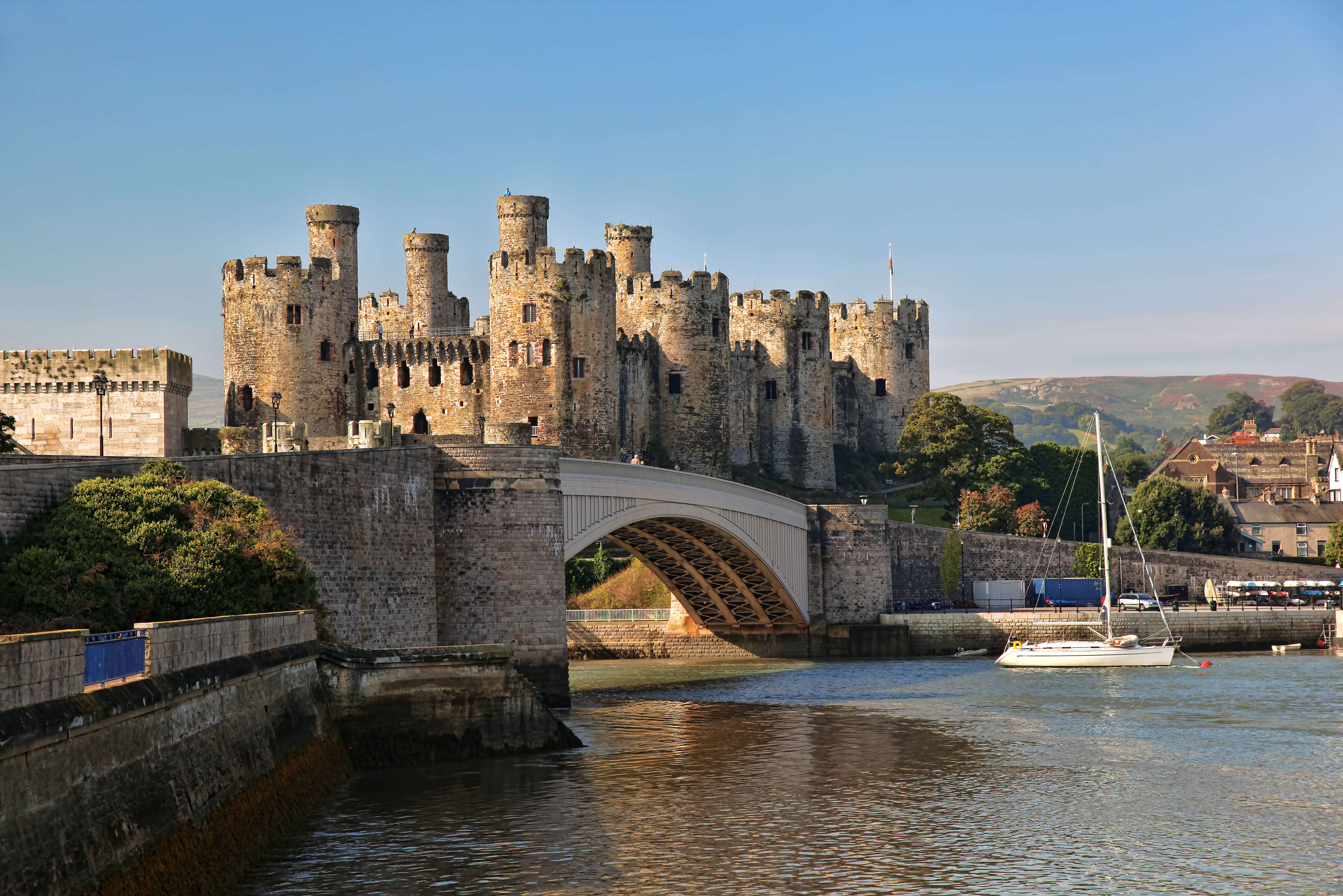 Conwy Castle is a UNESCO-listed medieval castle that is still intact after more than 700 years. Constructed by Edward I in just under four years,