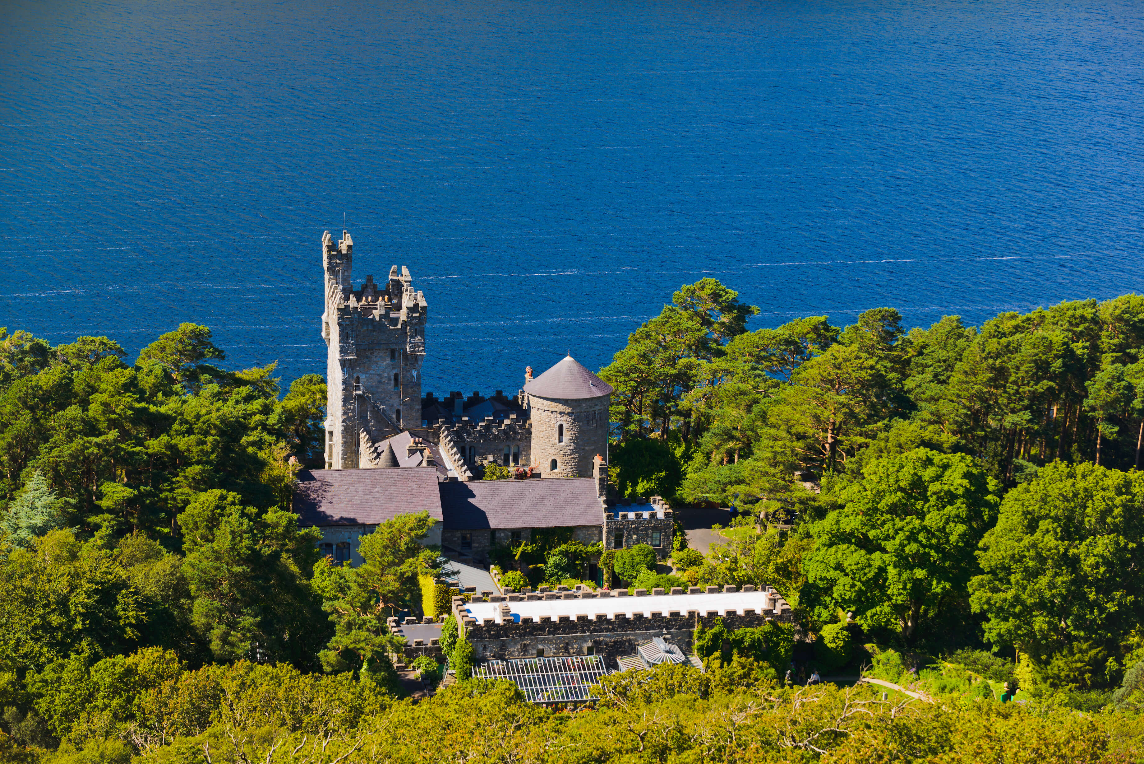 Glenveagh Castle, once a hunting lodge, is situated in the gorgeous Glenveagh National Park.
