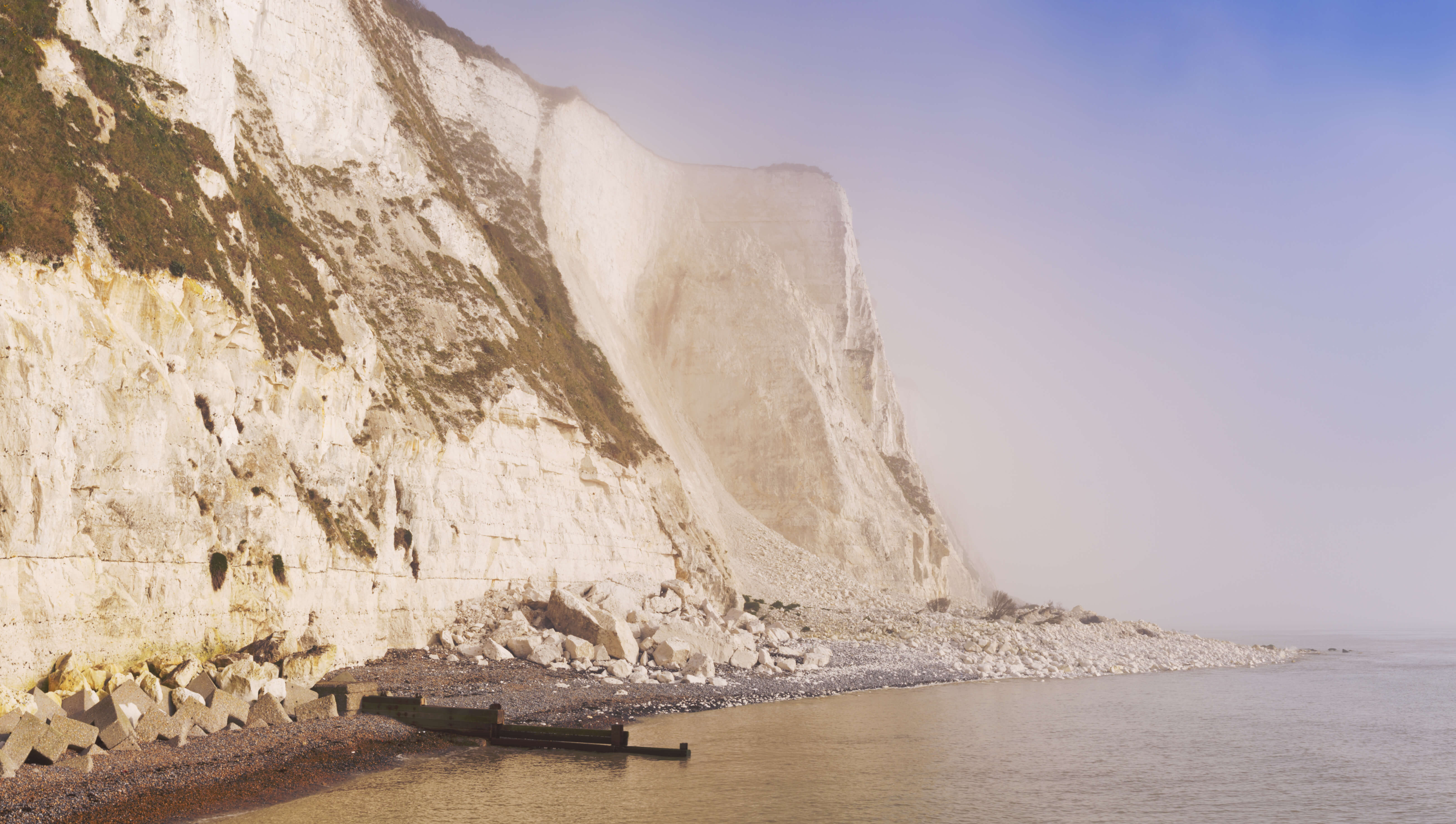 he stunning white cliffs at St. Margarets Bay, where Ian Fleming once lived.