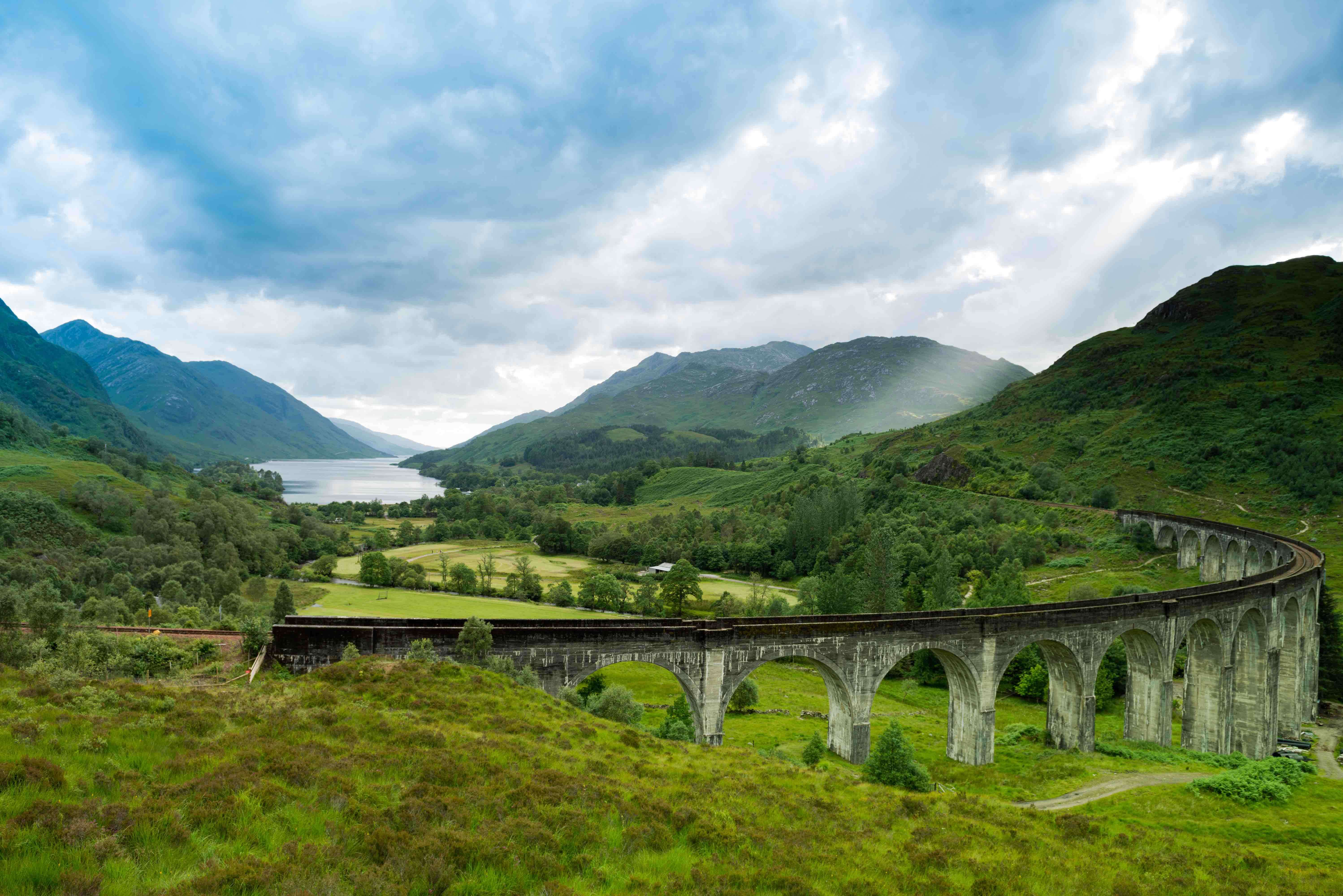 The 21 arches of Scotland's Glenfinnan Viaduct.