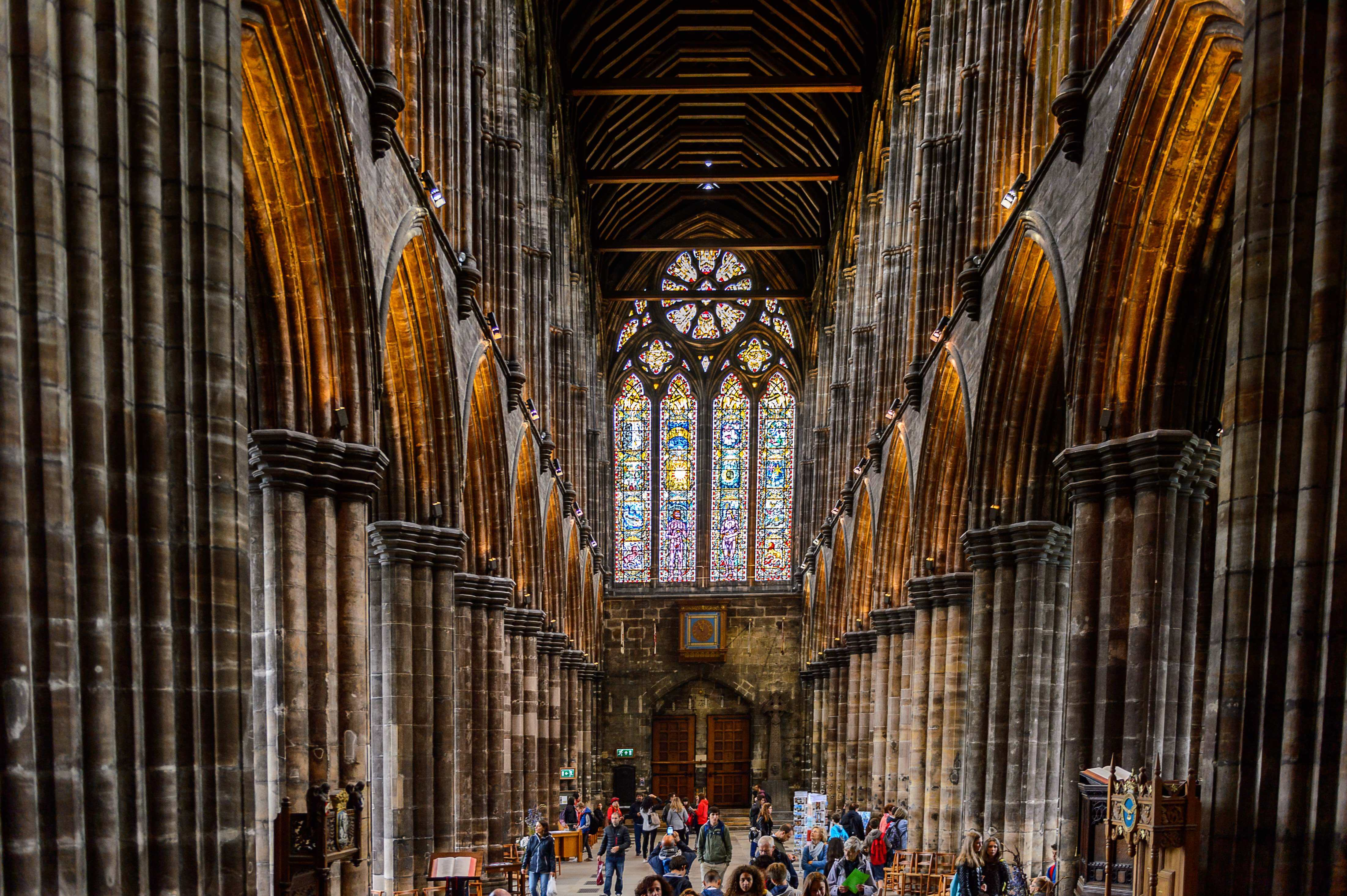 The striking interior of the Glasgow Cathedral - a definite must-see in Scotland.