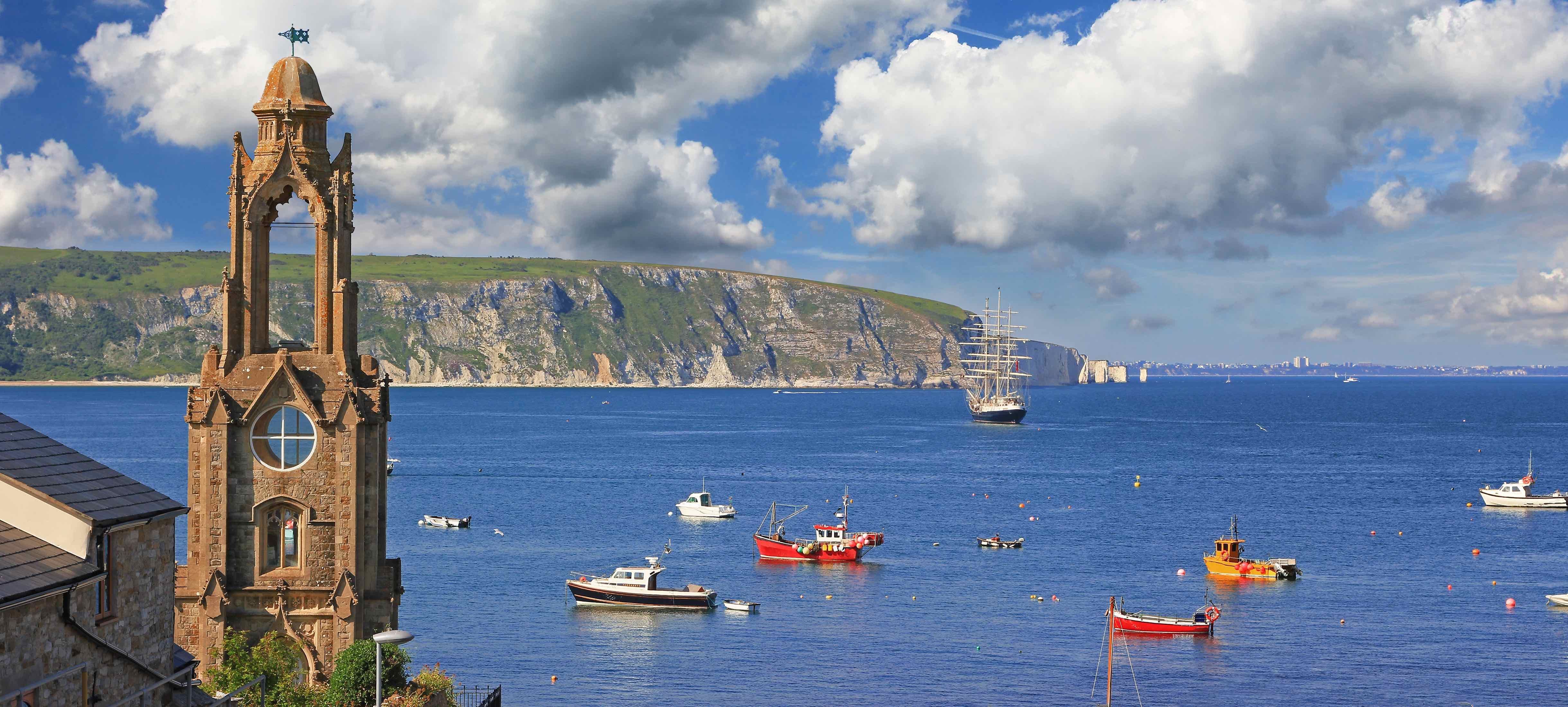 The idyllic coastal landscape of Swanage, Dorset - will you holiday here this year?