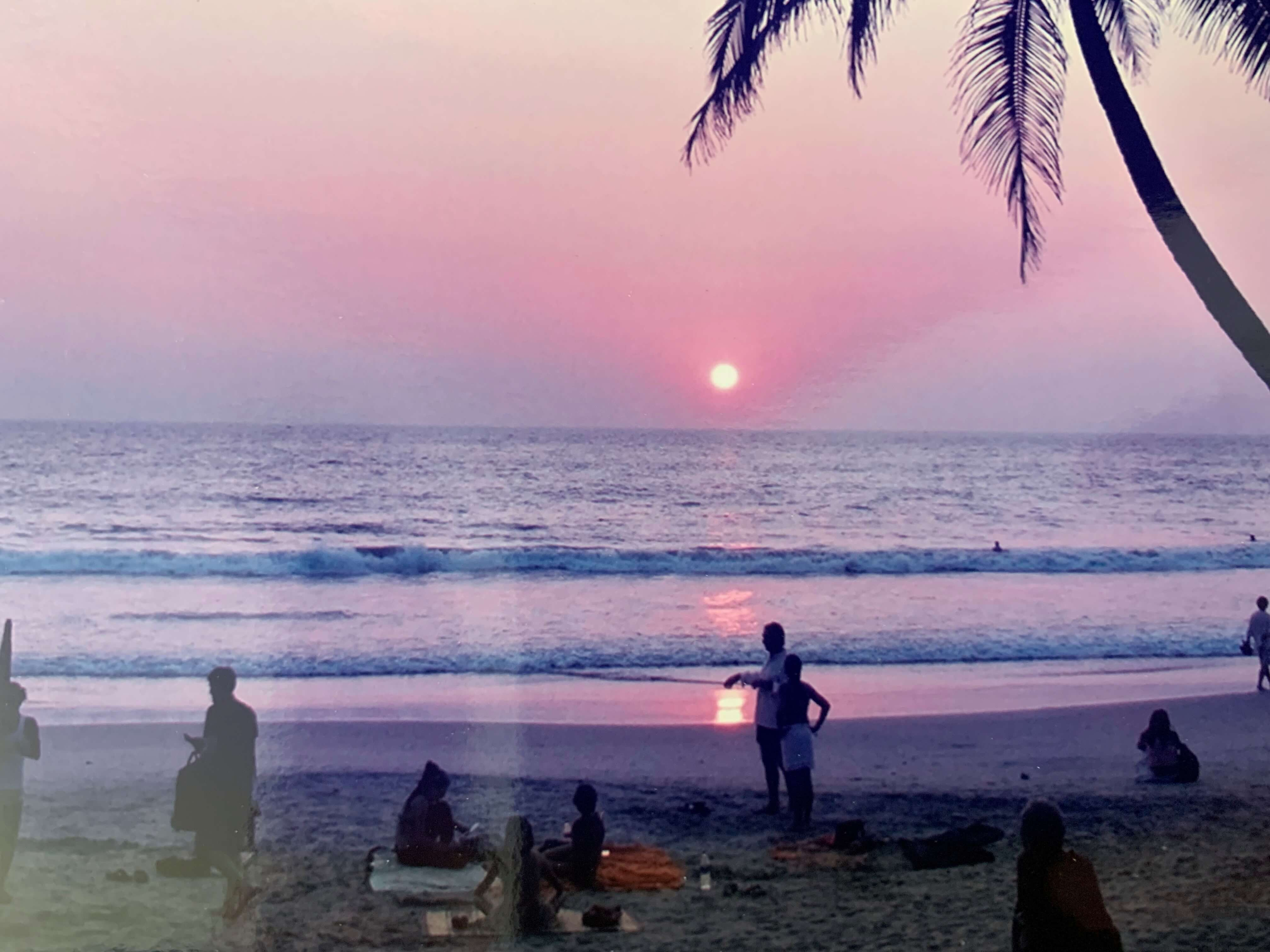 A Kerala sunset he will never forget.