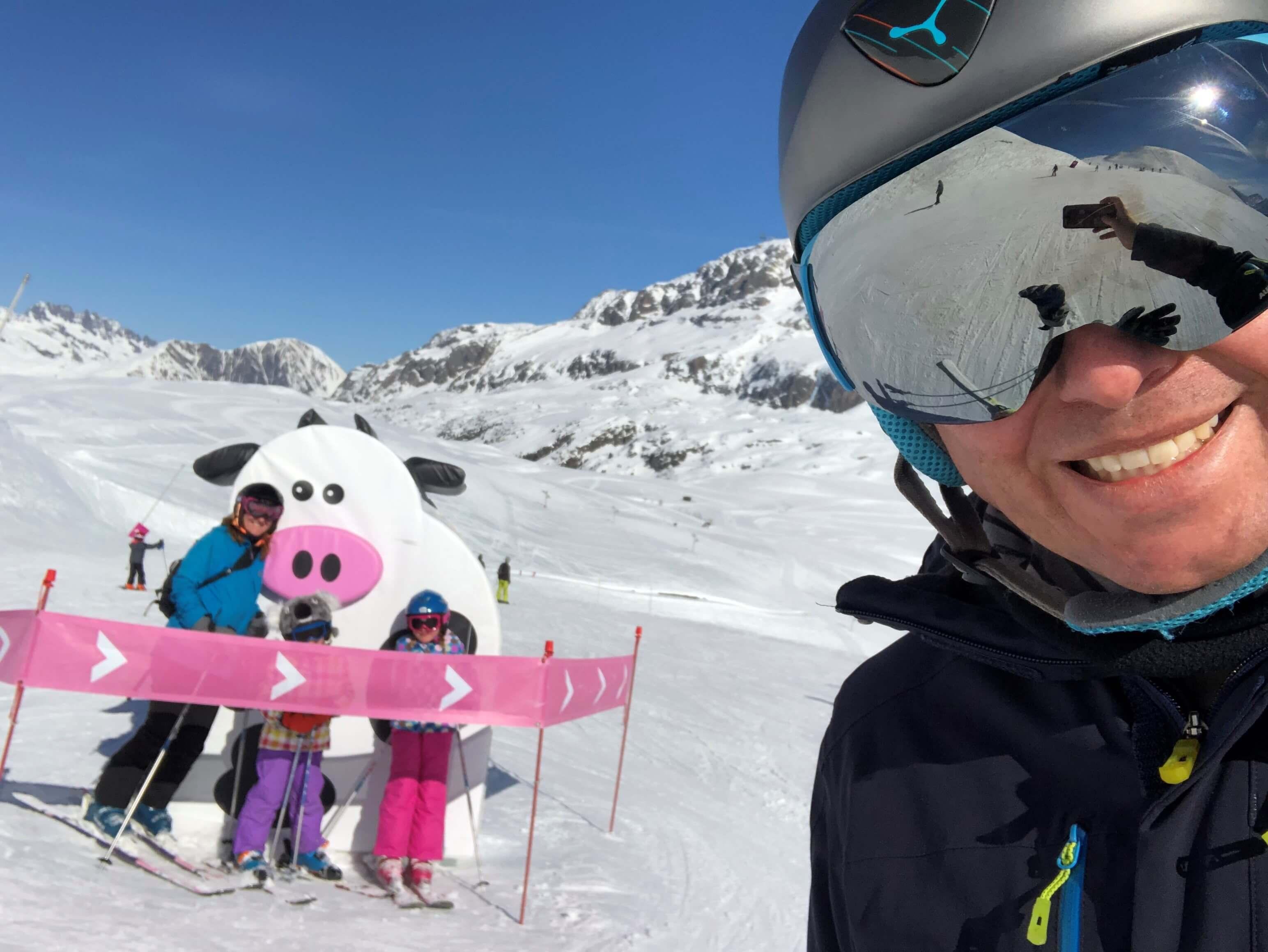 Newmarket Holidays CEO Niel Alobaidi on a family ski trip to the Alps.
